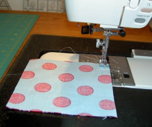 Sew patches together in groups of 2 (front view)