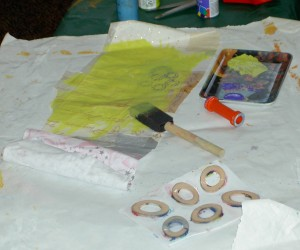 Painting Fabric Paper