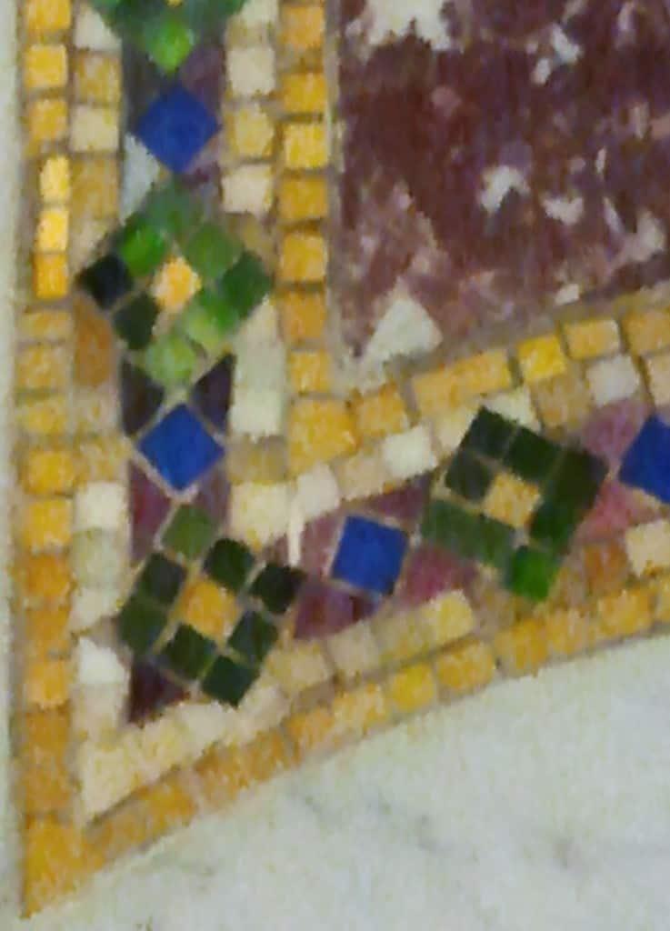 Venetian Glass corner detail