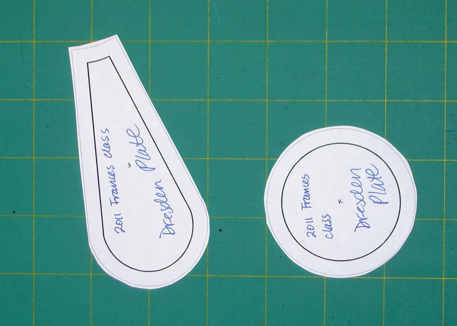 Sampler Class Making A Dresden Plate Artquiltmaker Blog - Dresden plate template
