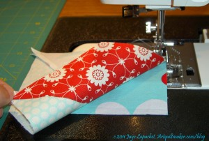 Sew Square to Segment