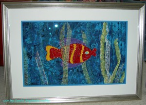 Kissy Fish framed