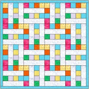 2 Square Column Quilt