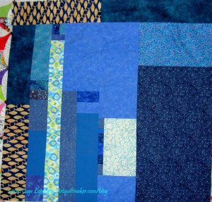 Blue donation quilt back
