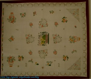 Stencilled bedcover
