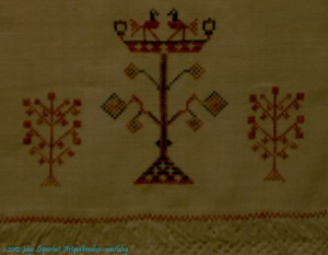 Elizabeth Bogfholder Towel, 1831, detail