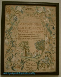 1791 Sampler by Lucy Potter