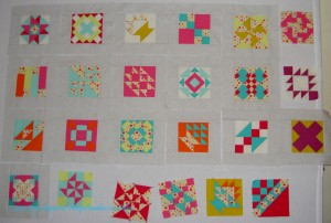 A-B-C Challenge Blocks - more sashing
