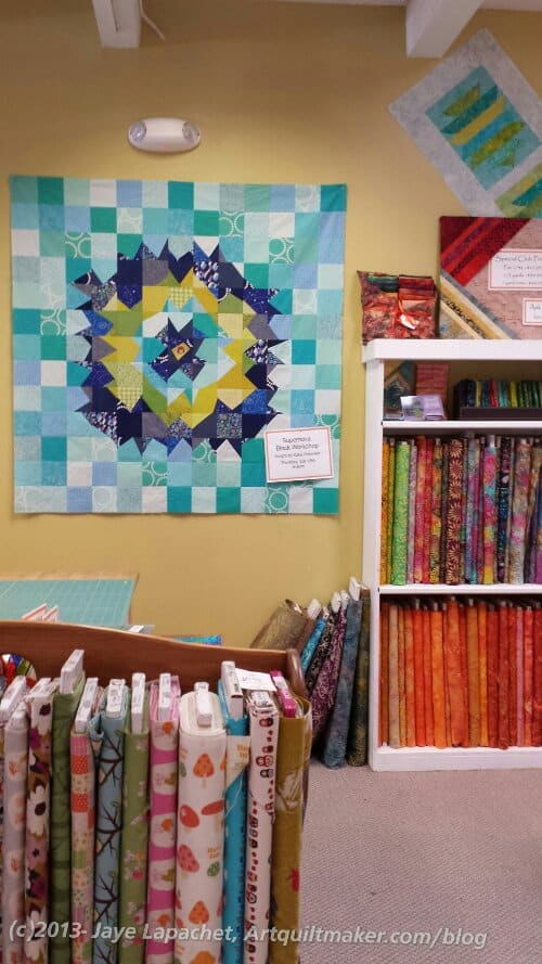 Quilting Loft, over the front counter