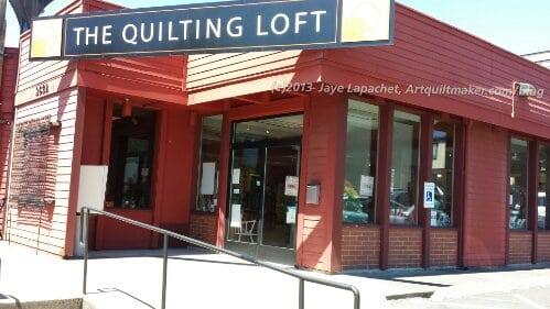 Quilting Loft, front entrance