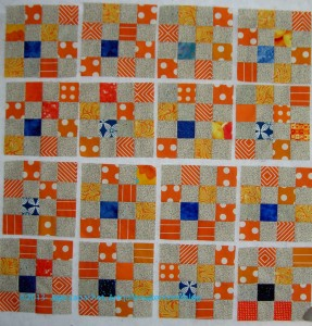 Orange & Grey Donation Blocks