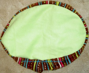 Green Stripe Cat Bed