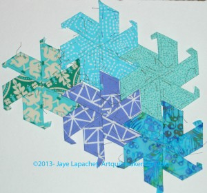 English Paper Pieced Stars - August 2013
