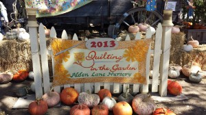 Quilting in the Garden 2013
