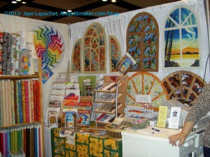 Colleen's Instant Quilts Booth Display