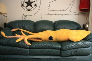 Giant Squid Pillow