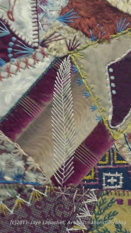 SJMQT Crazy Quilt Example (detail)