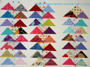 Background complex triangles