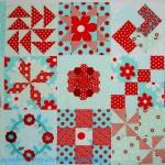 Aqua/Red Sampler Blocks