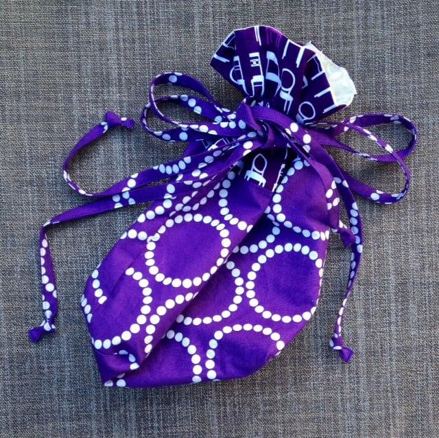Purple Chair Bag - closed