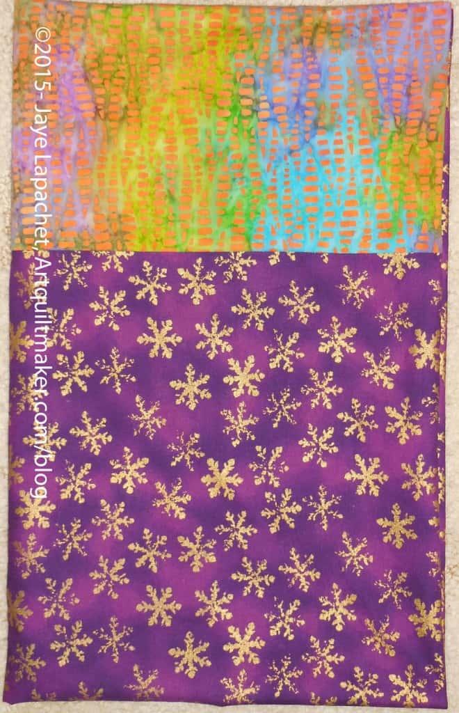 Purple, Green & Gold Pillowcase