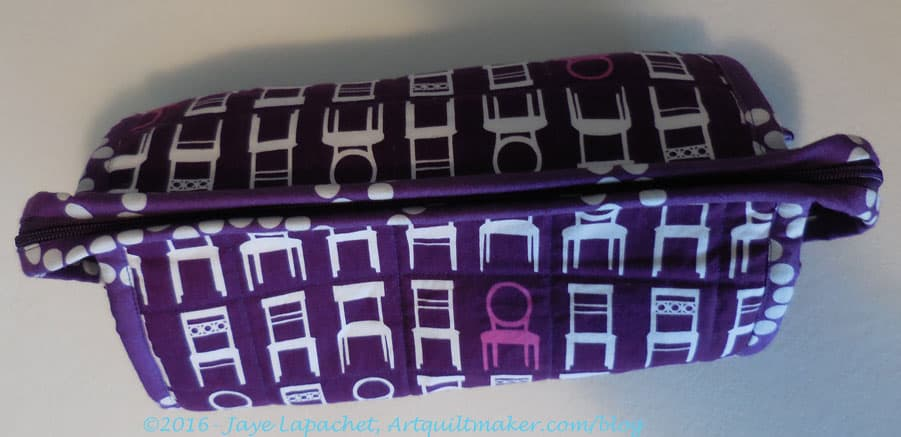 Purple Chair Sew Together Bag - closed
