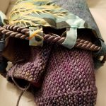 Knitting Bag with Nighthawk Scarf