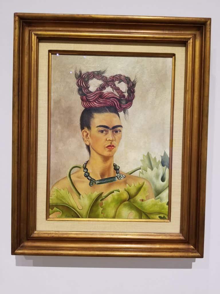 Self-portrait with a braid
