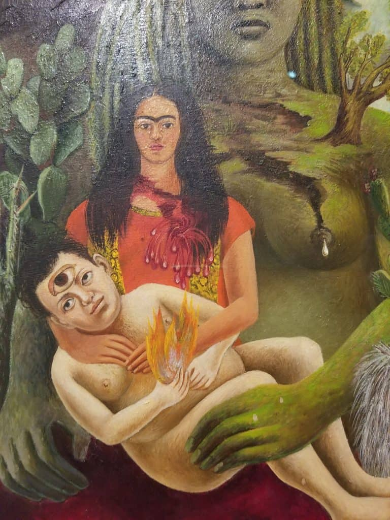 The love embrace of the universe, the Earth, Diego, me and Senor Xolotl, 1949 detail
