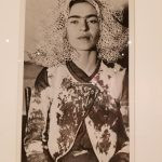 Frida with veil on her head by Lucienne Bloch