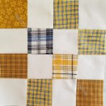 Mustard Plaid donation block