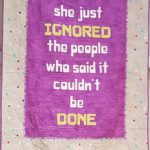 Modern Domestic display quilt