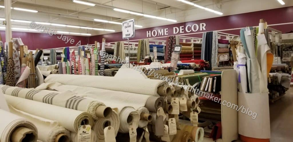 Mill End shop: home decor fabrics