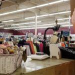 Mill End shop: looking towards fashion fabrics