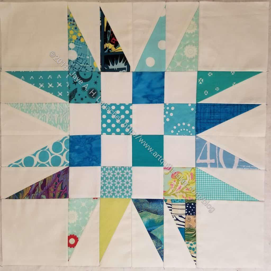 Spiky 16 Patch block 2, quilt 3