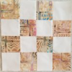 Beige batik donation block
