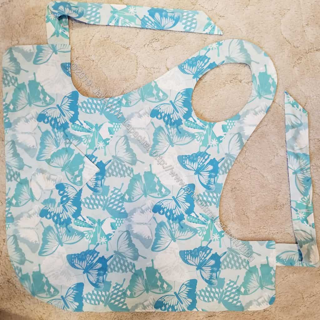 Flapper apron - Butterfly side