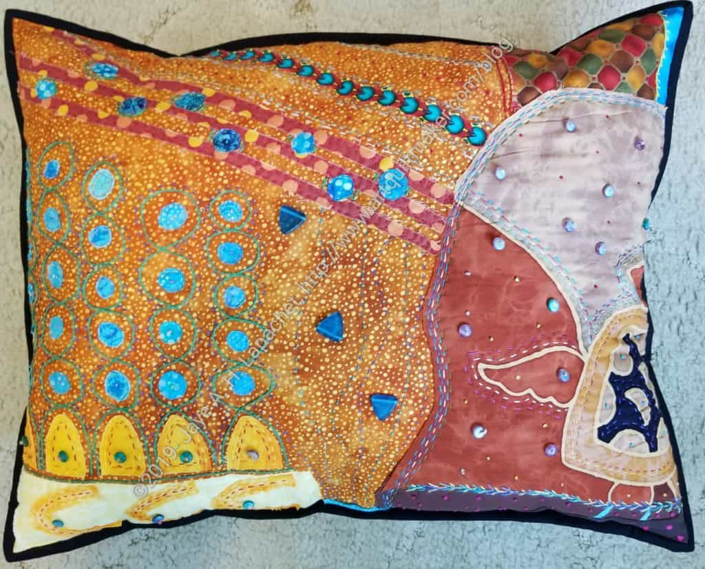 Under the Sea Pillow Finished- front