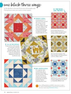 Quilts & More: 1 Block 3 Ways feature