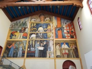 Diego Rivera mural at SF Art Institute