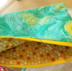 Green & Yellow Zipper Pouch