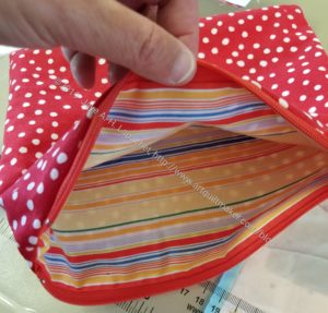 Dots and Stripes Zipper Pouch