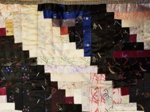 Marguerite & Juliette's silk quilt - detail
