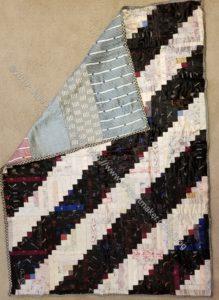 Marguerite & Juliette's silk quilt - with back
