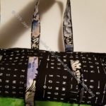 All Rolled Up tote with handles: showing accent fabric
