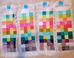 Mondo Bag pieces on fusible and sewed