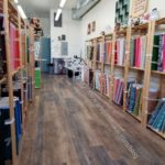 Main fabric aisle -solids on the left