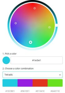 Canva Tetradic Color Palette