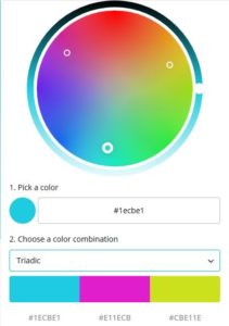 Canva Triadic Color Palette