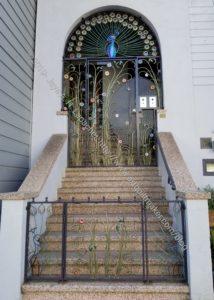 Ironwork entrance